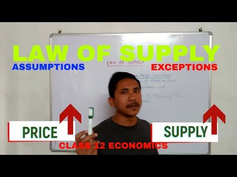 LAW OF SUPPLY || ASSUMPTIONS OF LAW OF SUPPLY || EXCEPTIONS OF LAW OF SUPPLY, SUPPLY THEORY CLASS 12