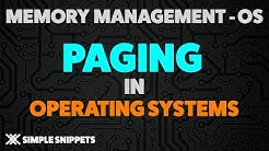Paging in Operating Systems with Example & Working - Memory Management