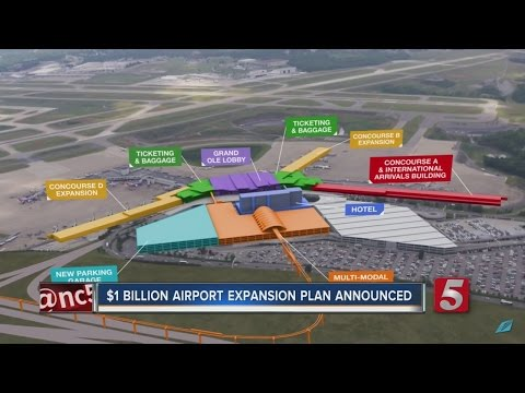 Nashville Airport Plans $1.2 Billion Renovation