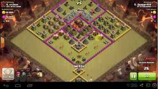 Clash of Clans - IIT K Clashers - War 1 Shaggy on rushed TH10 Hogs 3 Star Attack