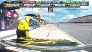 Piloto de Nascar entra a boxes y atropella a su equipo