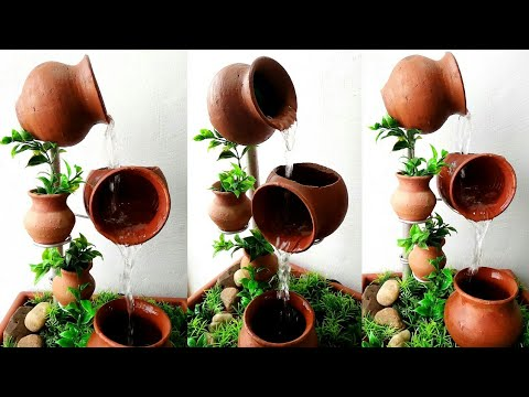 How to make beautiful terracotta fountain very easy