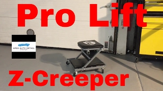 A demonstration of the Pro Lift Z-Creeper and how its great for auto detailing!!
