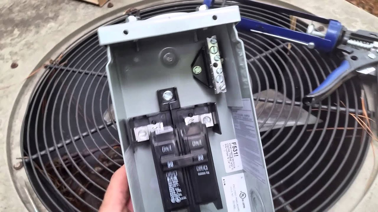 how to replace the air conditioning disconnect [ 1280 x 720 Pixel ]