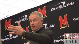 Maryland Football  -  National Signing Day DJ Durkin early period  12 20 2017