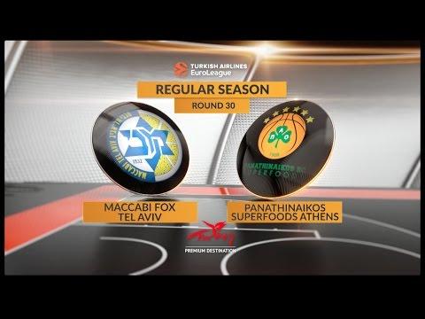Highlights: Maccabi FOX Tel Aviv-Panathinaikos Superfoods Athens