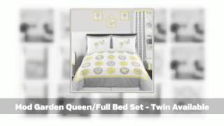 Mod Garden Childrens And Baby Bedding Sets - Yellow And Gray