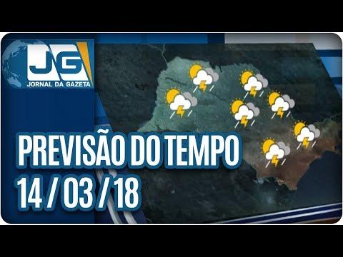 Previsão do Tempo - 14/03/2018