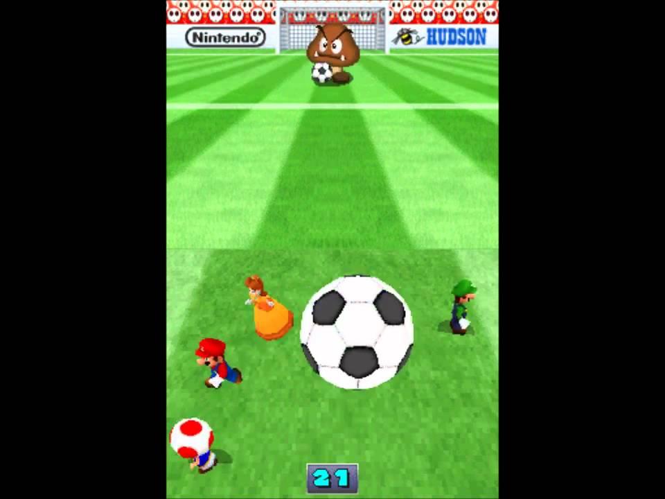 Mario Party DS - Minijuegos  Fútbol Arriesgado - YouTube d329059865bea