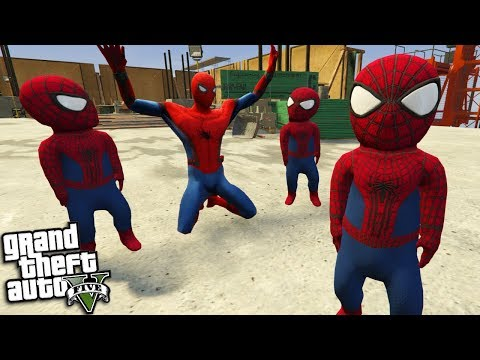 SPIDERMAN Gets KIDNAPPED By BABY SPIDERMAN (GTA 5 Mods)