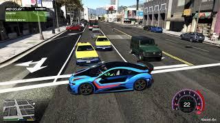 GTA 5 #1 Grab Siêu Xe Bmw i8 Đua Giành Khách Vs Taxi | Và Cái kết Taxi gọi giang hồ đánh ...