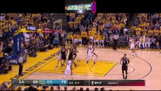 Golden State Warriors Amazing 25pt comeback vs. San Antonio Spurs (NBA Playoffs WCF , Game 1) 2017