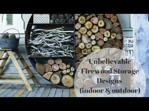 Unbelievable firewood rack ideas. Firewood Storage Designs (indoor & outdoor)