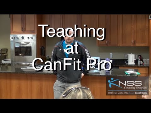 Teaching at CanFit Pro Nutrition and Wellness course Brandon Krieger KNSS Consulting