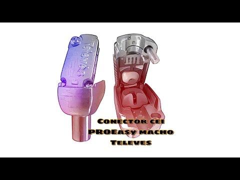 Video de Conector cei macho acodado blindado PROEasyF  Gris