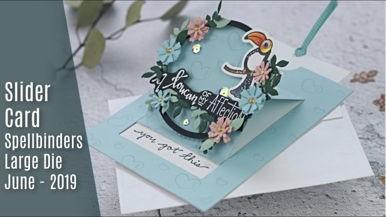 Interactive Slider Card Spellbinders Large Die of the Month June 2019