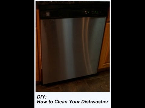Diy How To Clean Your Dishwasher Youtube