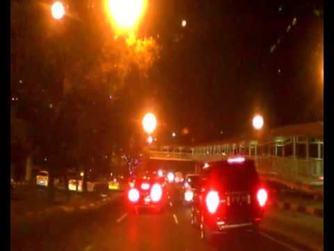 Night at Gen  Sudirman Street Jakarta