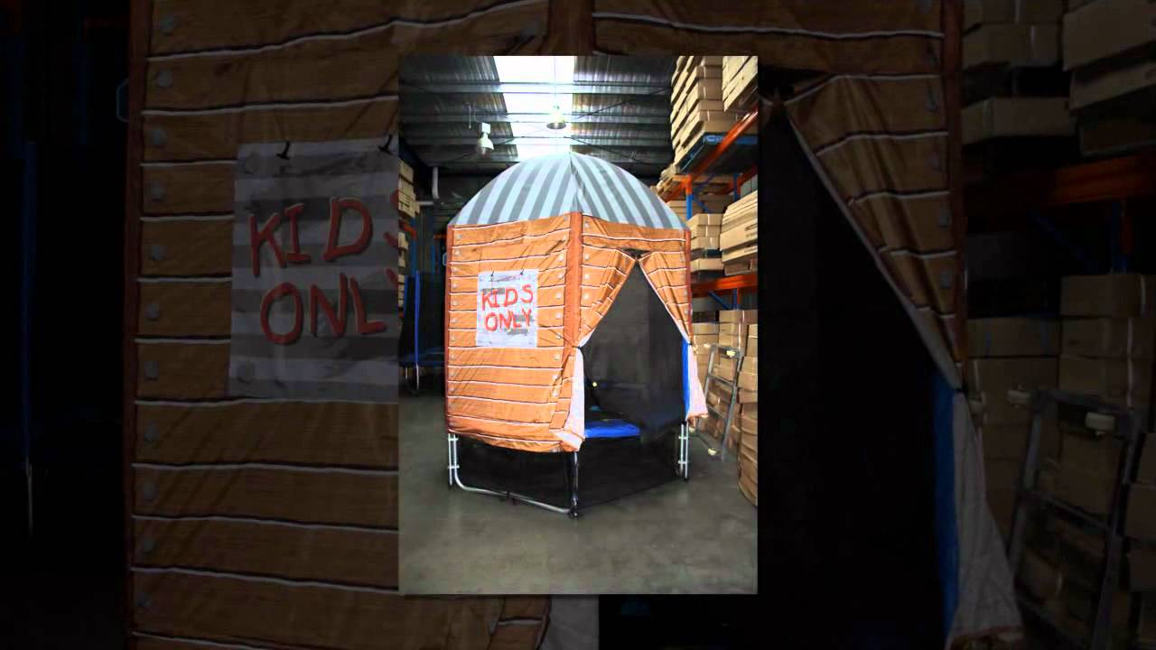 & Trampoline Tent - Tent For Trampoline - YouTube