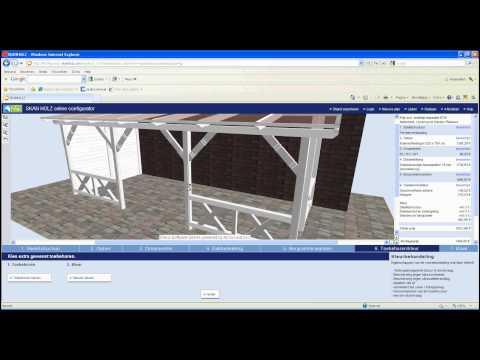Veranda en terrasoverkapping zelf bouwen in 3D maatwerk veranda configurator