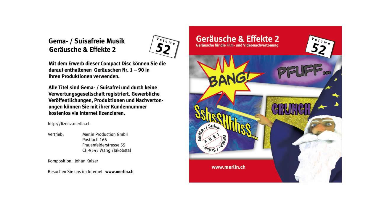 Geräusche & Effekte 2 Vol.52 - YouTube