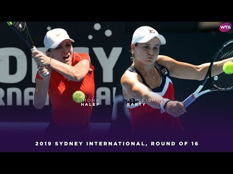 Simona Halep vs. Ashleigh Barty | 2019 Sydney International Round of 16 | WTA Highlights