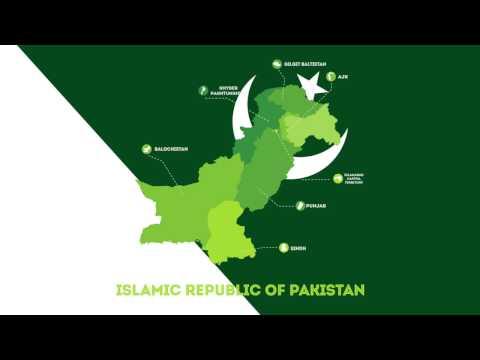 Islamic Republic of Pakistan - Map Animation