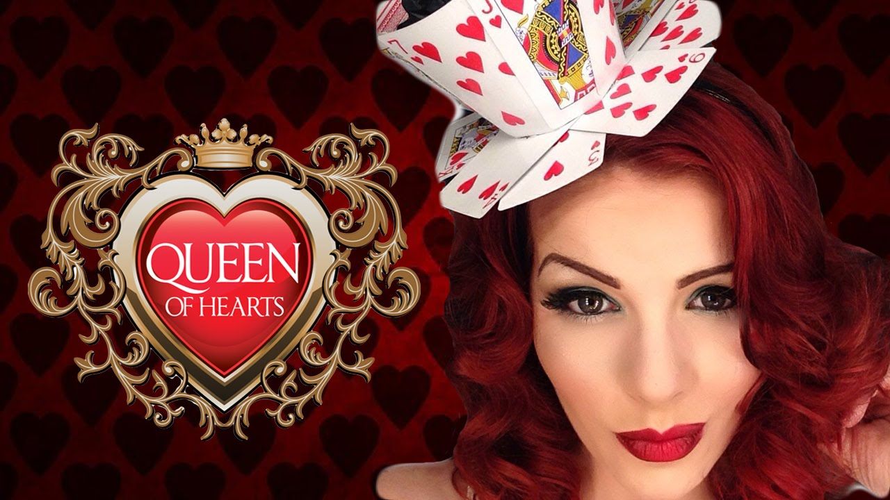 queen of hearts halloween makeup transformation tutorial
