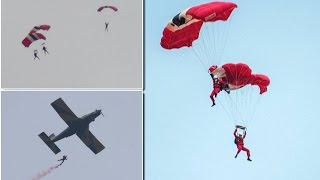 Red Devils skydive member is CAUGHT by colleague in Mid-Air after parachute failed to open at 1000ft