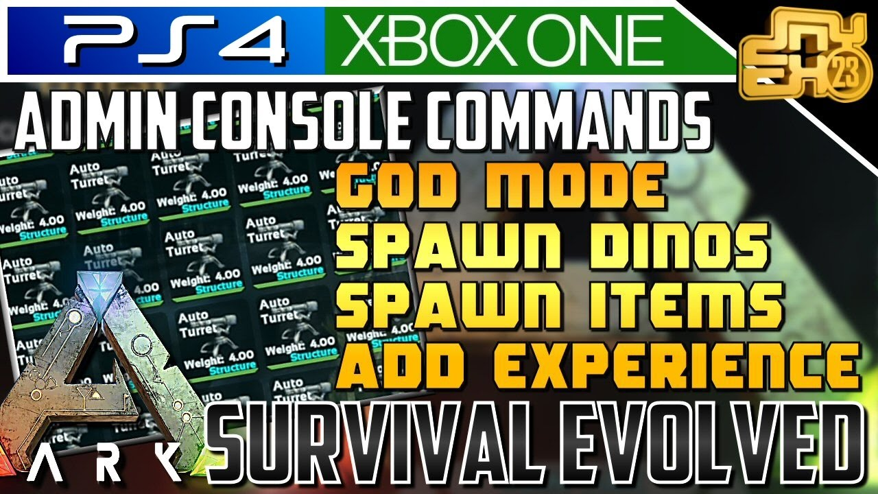Ark xbox one ps4 admin console commands explained most ark xbox one ps4 admin console commands explained most useful commands malvernweather Gallery