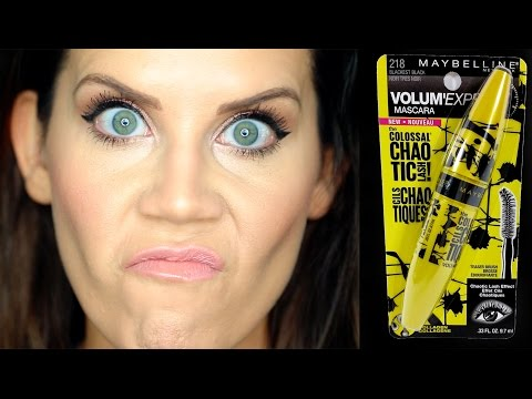 NEW DRUGSTORE | MAYBELLINE CHAOTIC MASCARA | First Impressions