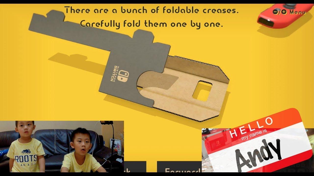 【阿布吉玩遊戲】速開任天堂LABO!用紙箱做的體感遊戲真的好玩嗎?Variety Kit Make第一集 RC Car nitendo switch - YouTube