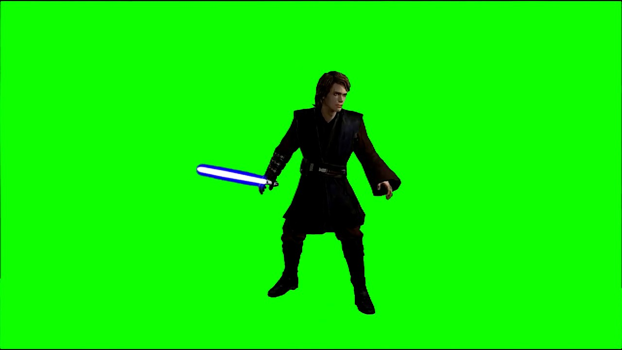 Green Screen Revenge Of The Sith Anakin Skywalker Youtube
