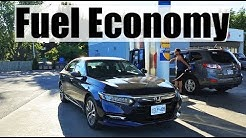 2019 Honda Accord Hybrid - Fuel Economy MPG Review + Fill Up Costs