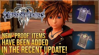 Two Mysterious New Items Have Been Added in Kingdom Hearts 3