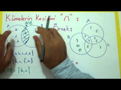 Kümeler 1 Şenol Hoca Matematik