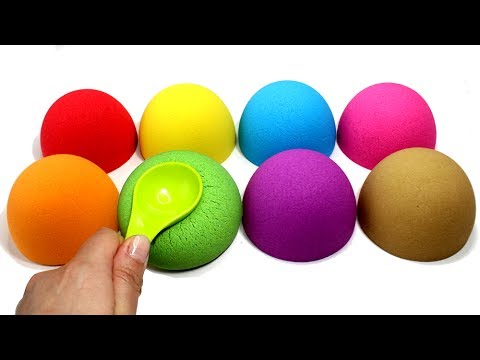 Thumbnail: DIY Kinetic Sand Semi Spheres Learn Colors Cutting Kinetic Sand for Kids