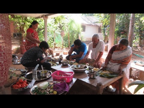 Village food factory /100th Cooking Celebration Video - my Family in my village / Sadya Recipes