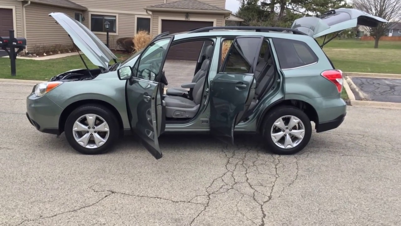 2014 subaru forester limited 2.5i green, visit as at www