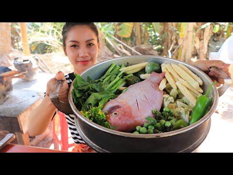 Yummy Cooking Fish Boiled With Vegetable Recipe - Natural Life TV Cooking