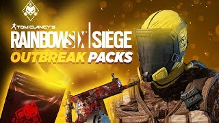 OUTBREAK ALPHA PACK OPENING (ALL THE NEW SKINS) - Rainbow Six Siege