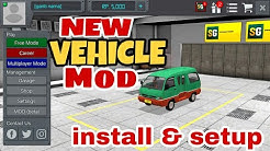 How to setup and install bus simulator Indonesia (BUSSID ) new vehicle mod (Hindi)