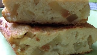 Пирожки яблочные без муки.Пирожки наливные в омлетнице.