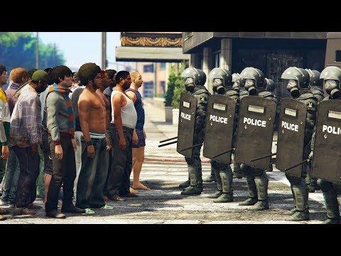 GTA 5 Đội Đặt Nhiệm Chống Bạo Động Trong Thành phố Thắt Thủ Trước Quá Đông Người bạo Loạn