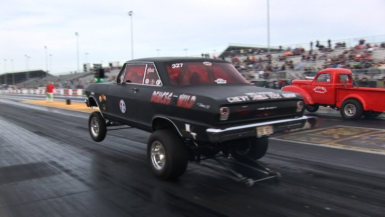 Old School Gasser Drag Racing - ADRL Dragstock - YouTube