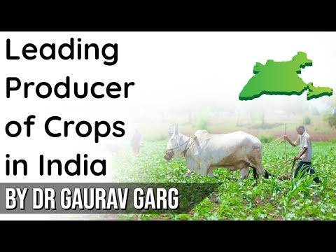 Leading Producer States of Various Crops of India - Official data by Ministry of Agriculture