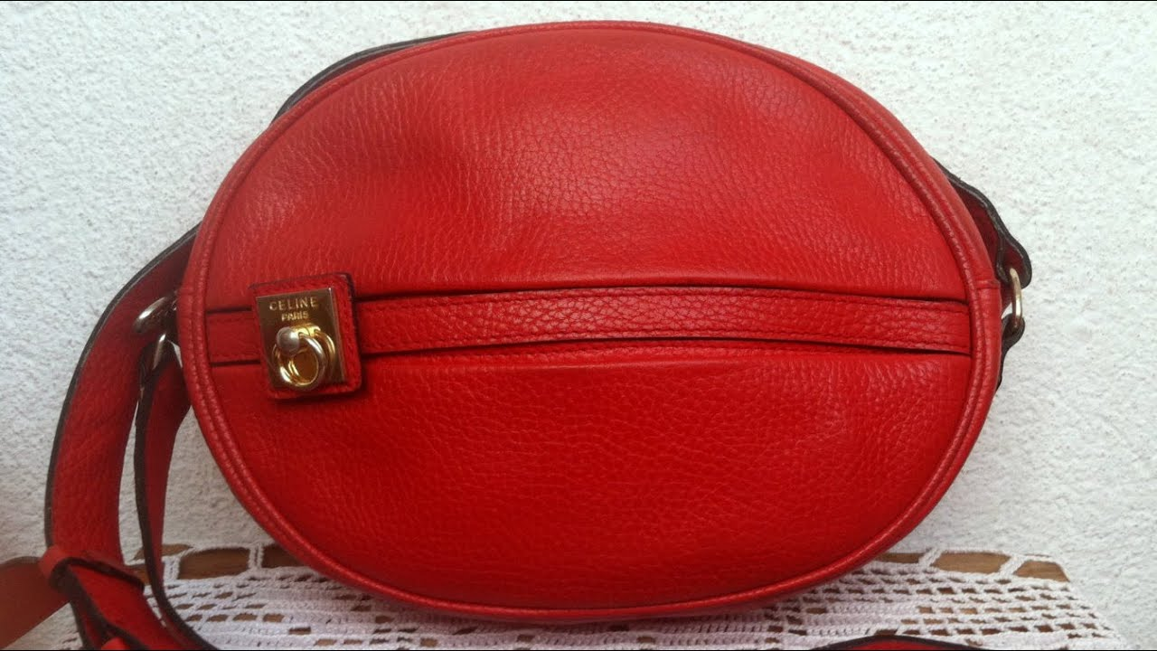 Vintage Lipstick Red Bag by Celine Paris, Made in Italy, Round ...