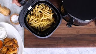 Lightened-Up Fries and Wings in the Philips Avance Airfryer
