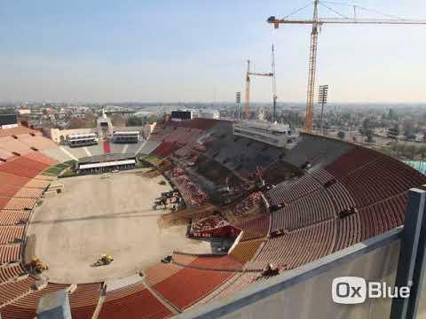 LA Coliseum Renovation time-lapse 01/28/2018