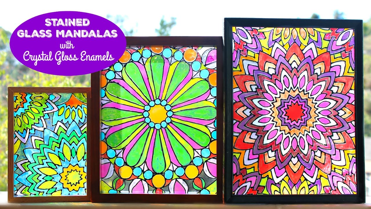 How To Mandala Stained Glass Youtube